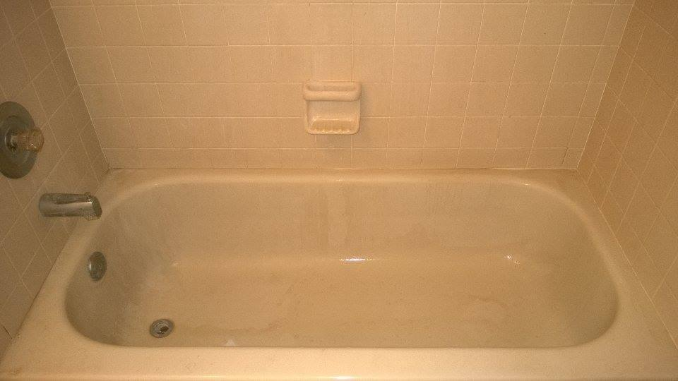 Stained and Dirty Tub Grout