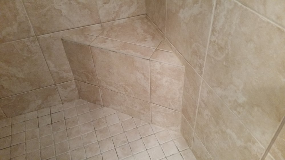 Stained Shower Tile and Grout
