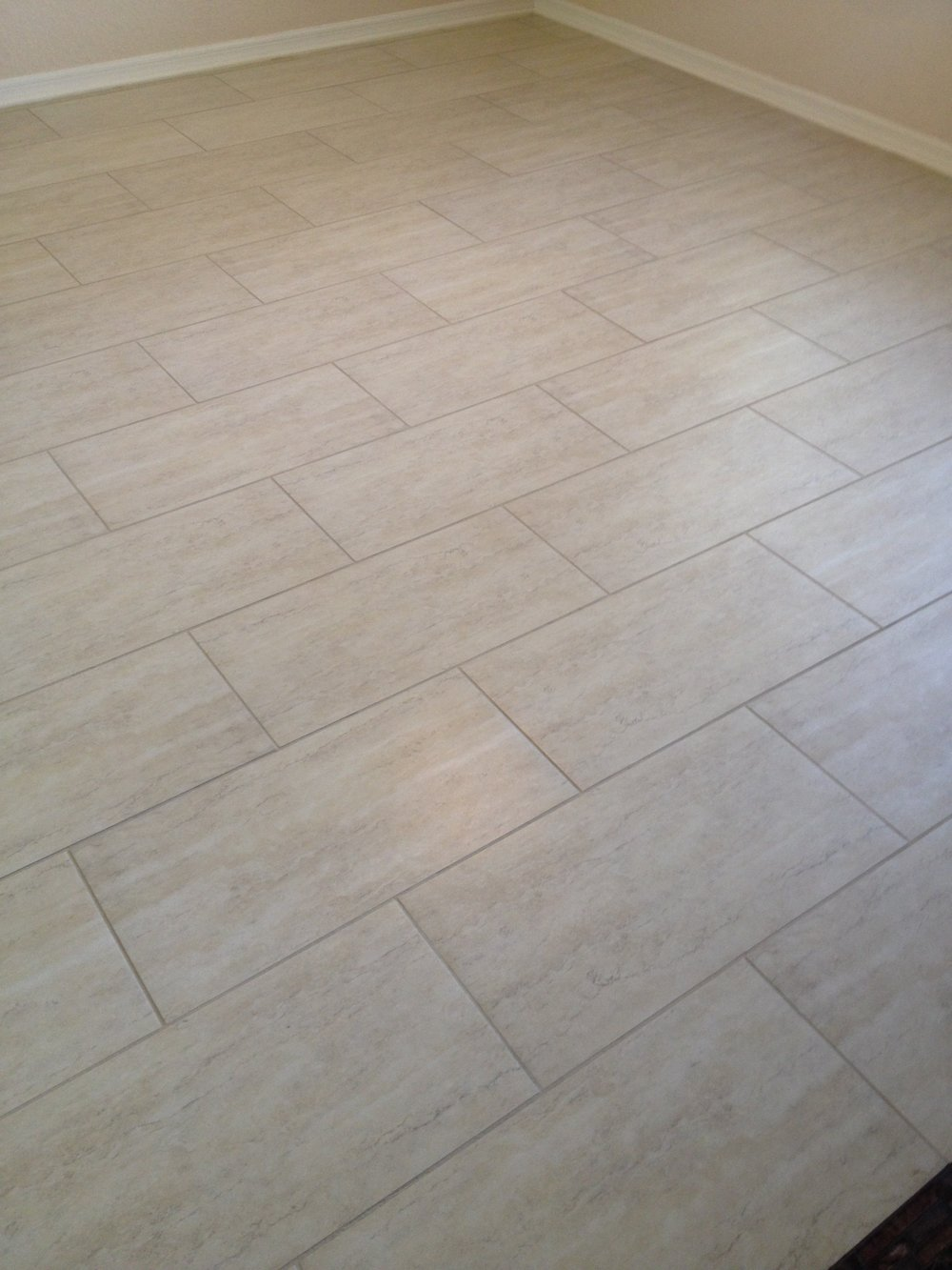 Dining Room Tile Before Mrs. Grout