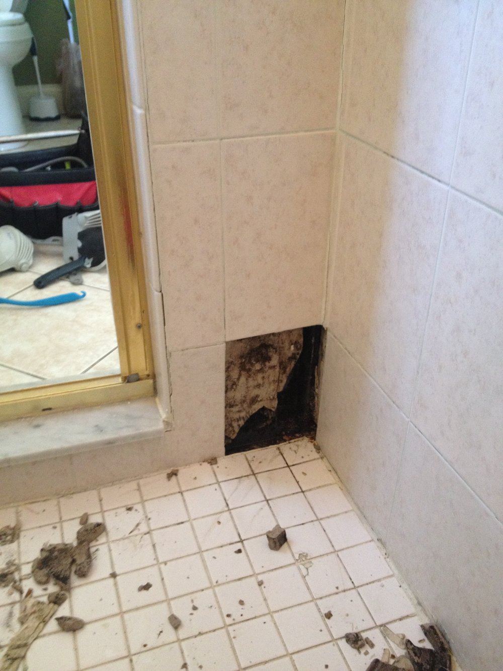 Cracked Tiles and Grout