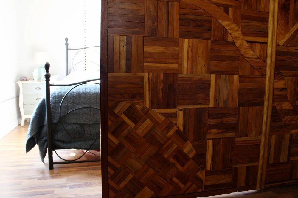 Sliding barn doors made by Oxform Studios.