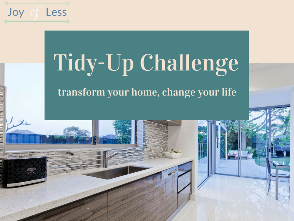 tidy up challenge