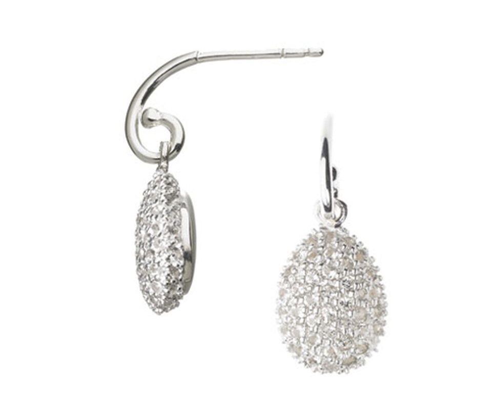 Links of London's  Hope Egg Earrings in White Topaz