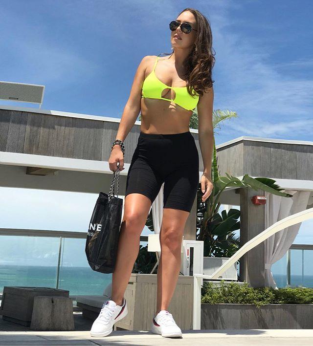Bike shorts ✔️ @shop_mboutique 👙 @bikinihaus @beachbunnyswimwear 👟 @filausa @littleburgundyshoes  #bikeshorts #beachcover #miamiswimweek2018 #1hotelsouthbeach. . . . 🎒 @chanelofficial 🕶 @tomford  #wardrobestylist #torontostylist #miamistyles #miamifashion #beachstyle #southbeachstyle #miamigirl #msgotit #fila #whitekicks #bikinicover #bikinistyle #the6 #torontogirl #toronto #miami