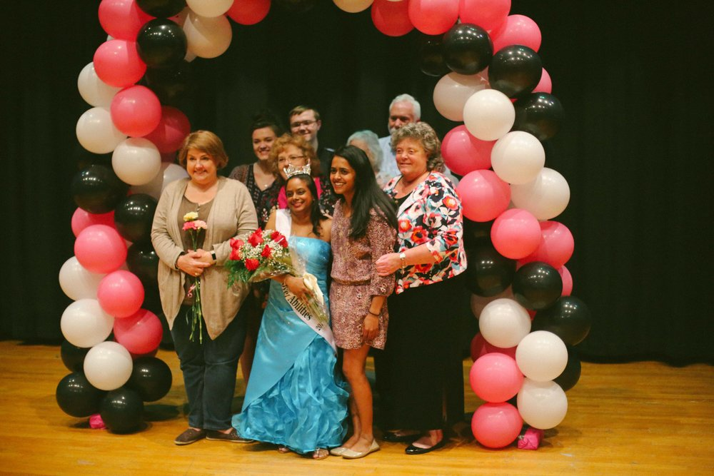 Sarah poses with her family after being crowned the first ever Miss Hanover Abilities