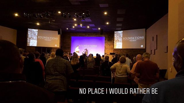 No place I'd rather be... if you missed this weekend, make sure you go back and watch the service online.