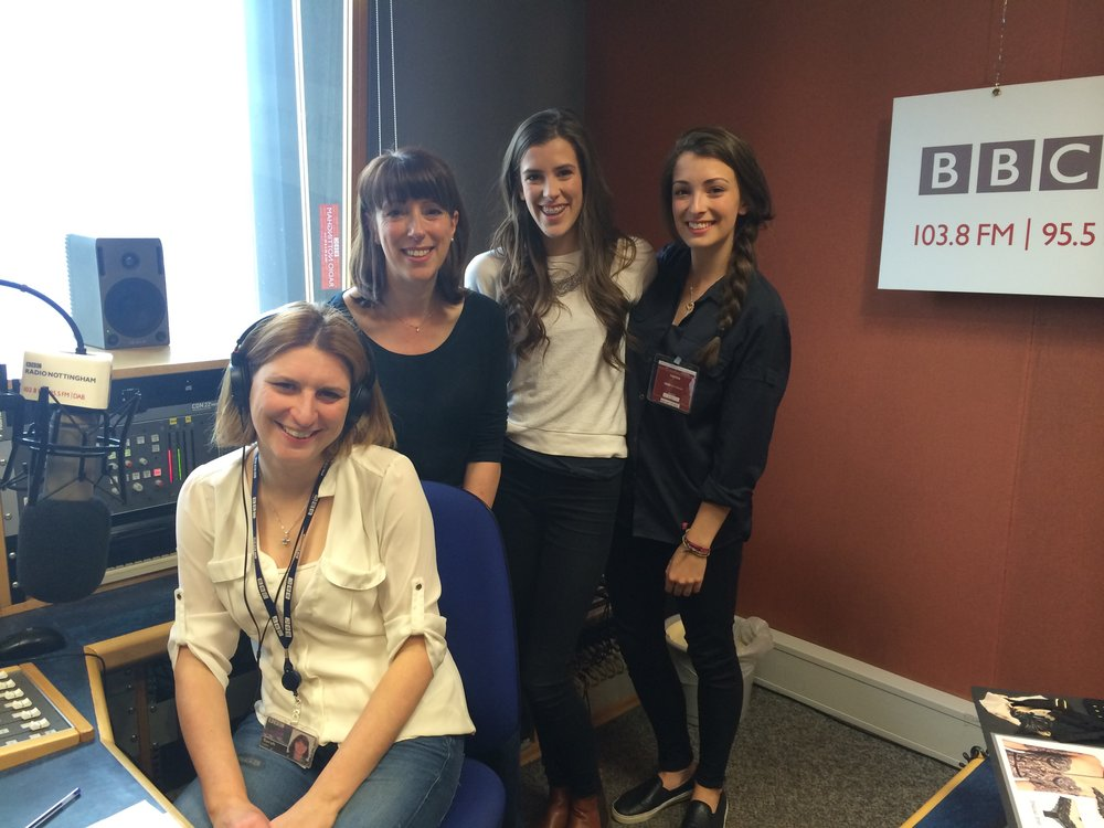 Team millie at BBC Radio Nottingham
