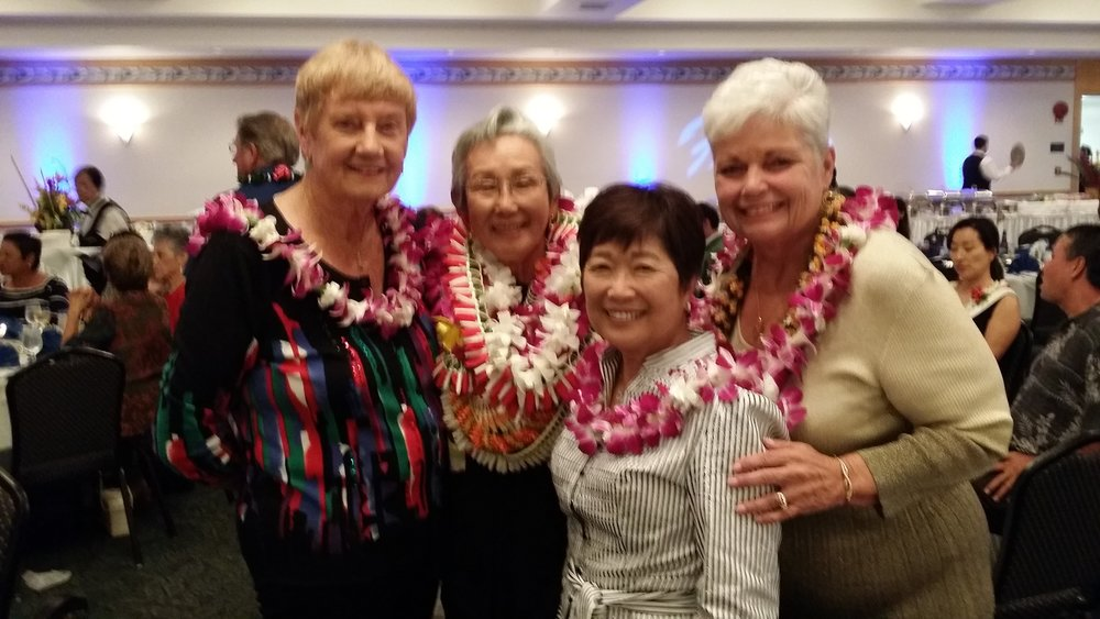 Sally Harper (Volunteer 2011), Grace Wilson (Volunteer 2013, Sheila Kim (Volunteer 2010) and Marcia Lee (Volunteer 2012).