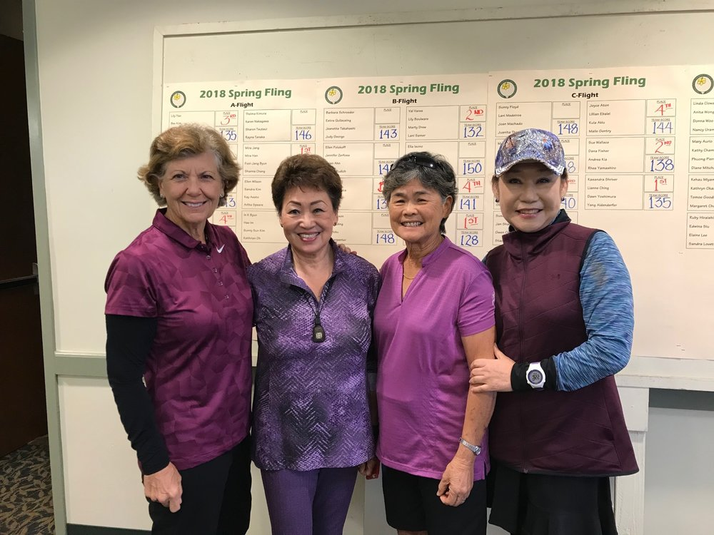 "The ""Yao"" team, left to right: Ann Wills, Lily Yao, Bev Kim and Young Leskovec."