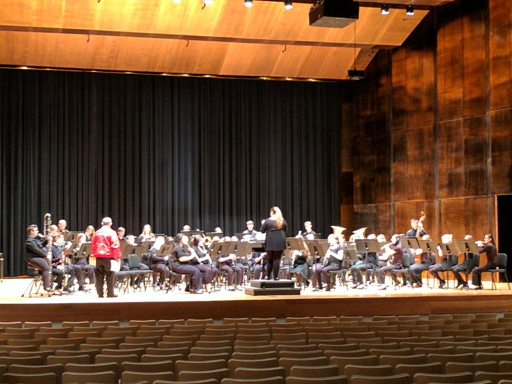 The concert band at EIU