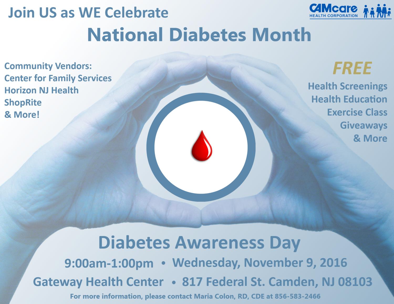 Diabetes Awareness Day — CAMcare Health Corporation