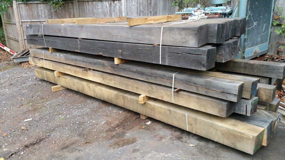 Long length air dried oak beams