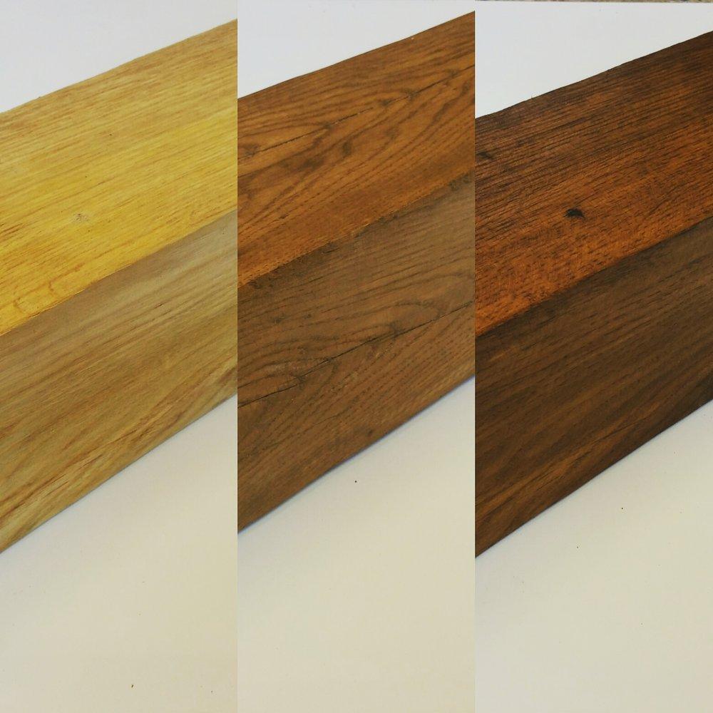 Modern style oak mantels