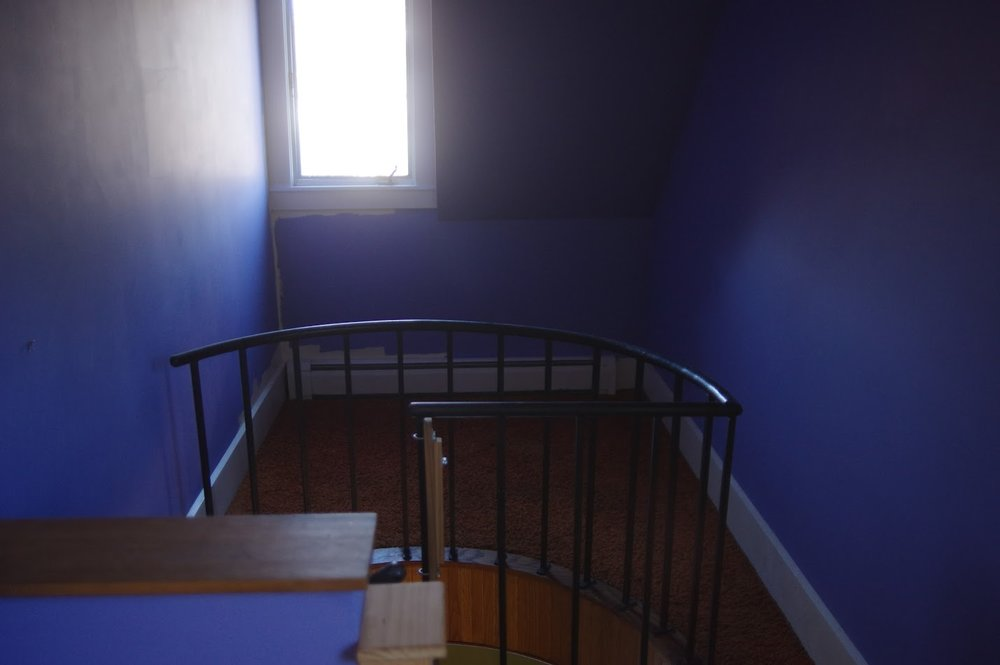 Before: Spiral Stairs Entry