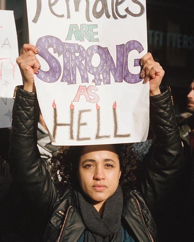 Females Are Strong as Hell 🔥👊🏻 #damnright #womensmarch #internationalwomensday #womensday #daywithoutawoman . . . . . #35mm #filmphotography #portra #portrait #film #photography #filmisnotdead #analog #lomography #staybrokeshootfilm #nyc #vsco #vscocam #pursuitofportraits #ww4w #femalesarestrongashell