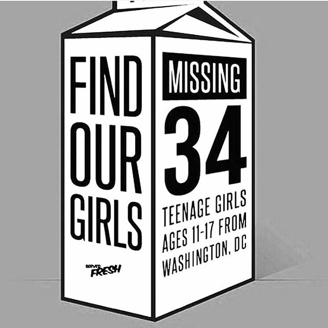 Reposted from @feministabulous // 34 girls of color recently went missing in Washington DC and if these girls were white this would be front page news. Where was the amber alert? Where's the outrage? And the worst part is that there is no spike, this is the rate of missing girls of color. This is insane. (by @nysocialbee) #FindOurGirls