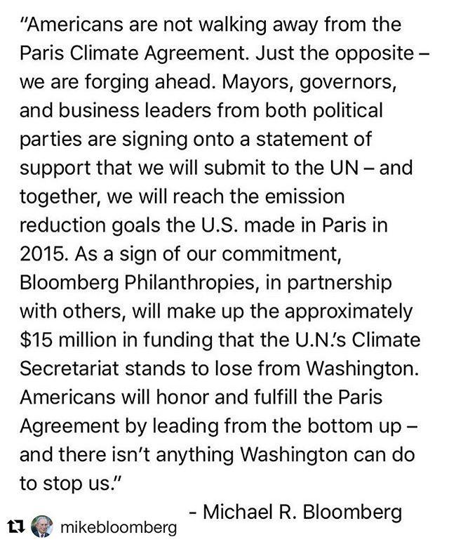 🇺🇸 #Repost @mikebloomberg #ClimateofHope