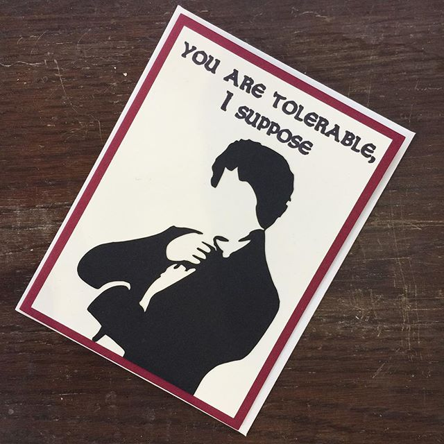 Pretty much our most popular card we carry. I was thinking it is absolutely Mother's Day appropriate, don't you think 🤔 ?! . . . . #greetingcards #mrdarcy #prideandprejudice #literaryquotes #readingissexy #cards #mothersday #dontforgetthecard #design #chicgifts #giftshop #matterandbone #dtla #thisisdtla #greatgifts #discoverla