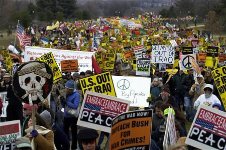 The worldwide marches against the United States and United Kingdom's 2003 invasion of Iraq were the largest ever acts of political advocacy.