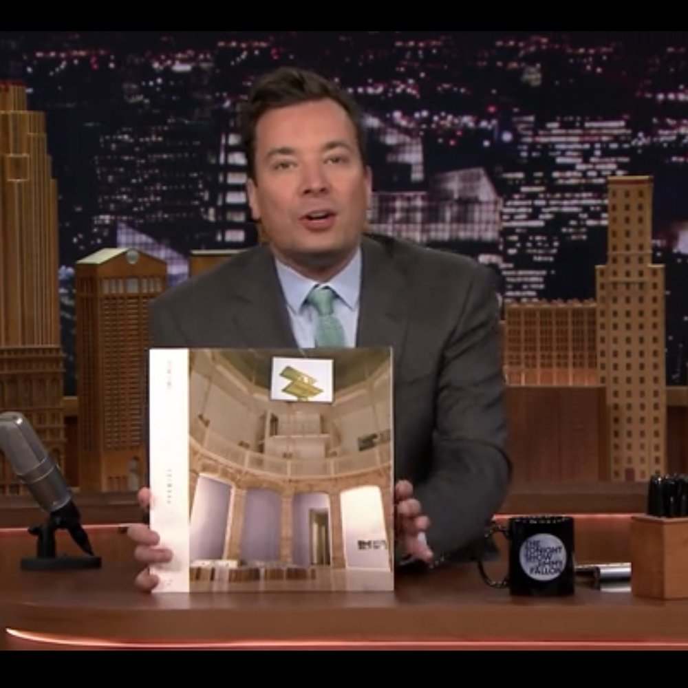 Jimmy Fallon w Emily Wells album Promise.JPG