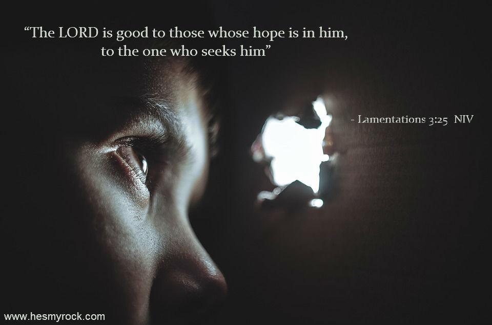 Lamentations 3:25 NIV