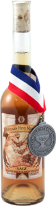 A Bottle of Sage Traditional Mead with Mazer Cup Awarded Medal