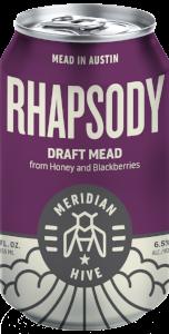 Rhapsody Draft Mead Session Mead In a Can Orange Blossom Blackberry | Hydromel