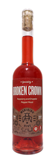 A Bottle of Broken Crown Raspberry Chipotle Pepper Fruit and Spice Mead