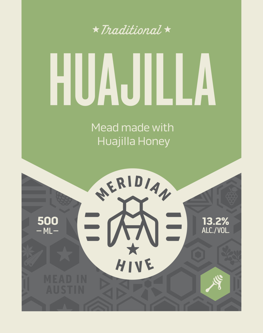 Huajilla Traditional Still mead label