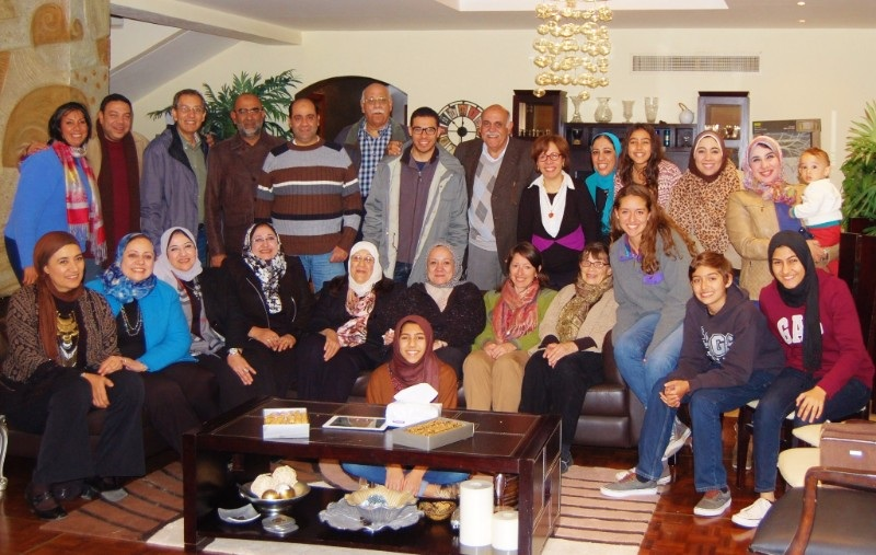 Mohamed (back row, third from left) is pictured with his extended family on a recent trip to Egypt. Mohamed came to America from his native Egypt at the age of ten.