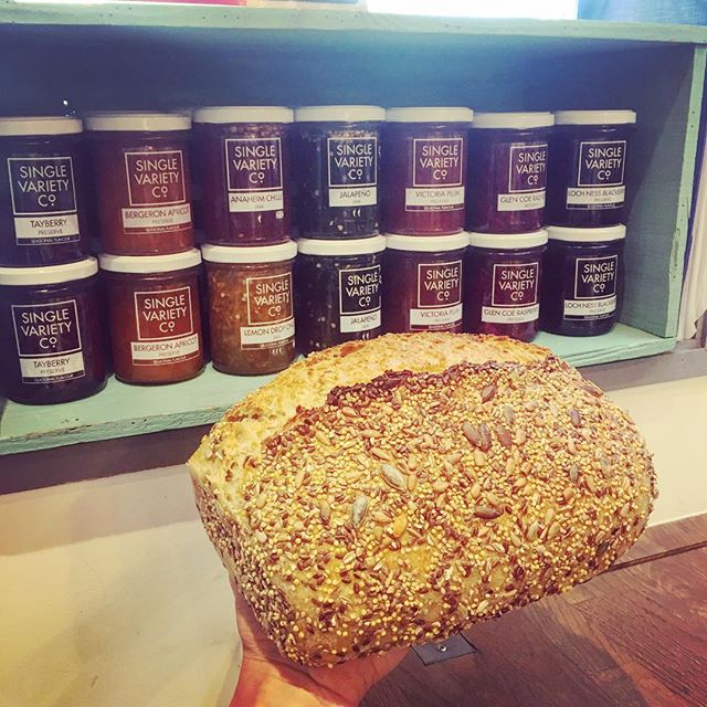 So proud to stock #amazing #products from #localbusiness we have the #fabulous #jams by @singlevarietyco and the #yummy #organic #sourdough #bread by @christophersbakery #perfectcombo for your #breakfast #teatime #snack @tootingmarket #nuvolalittlebakery #alittlebakery #tooting #london #instagood #smallbusiness