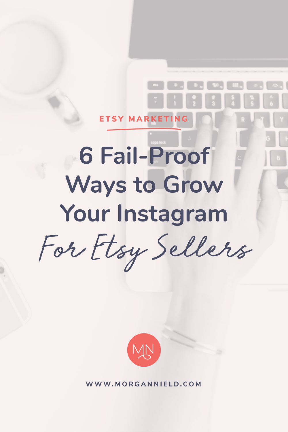 6 FAIL-PROOF WAYS TO GROW YOUR INSTAGRAM AS AN ETSY SELLER | Instagram is an AMAZING tool to utilize if you sell on Etsy, but gaining that initial following can be tough sledding. On the blog I'm sharing 6 of my favorite ways to grow your Instagram organically and make a few sales along the way! Click through to read my top tips >>