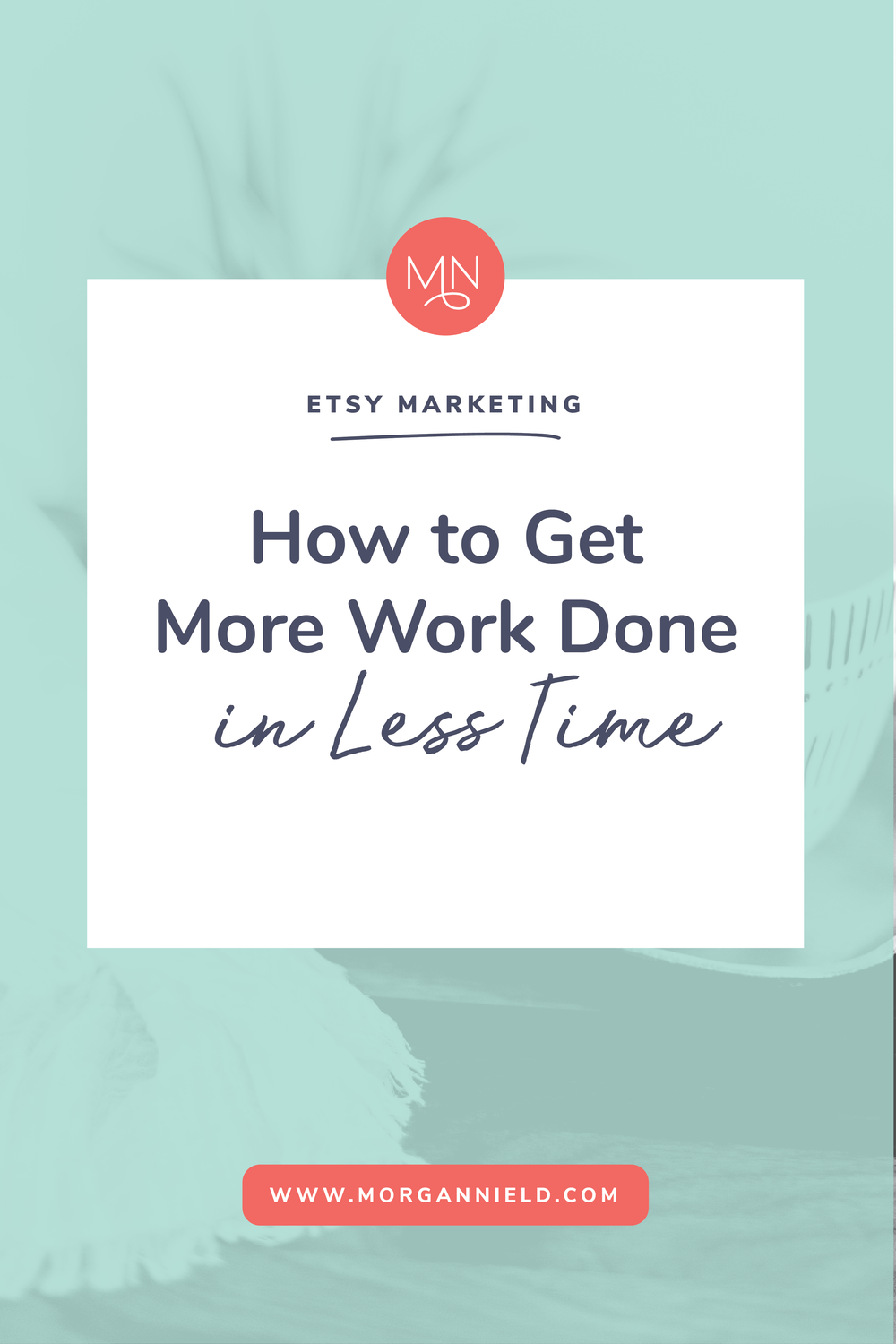 Let's face it-- as much as you'd like to, you just don't have the time to spend 12 hours/day working on your Etsy shop. And guess what? You shouldn't have to! Inside this blog post I'm going to share my #1 tip for time-management and getting more things done with your small biz-- in less time! Click through to read more >>