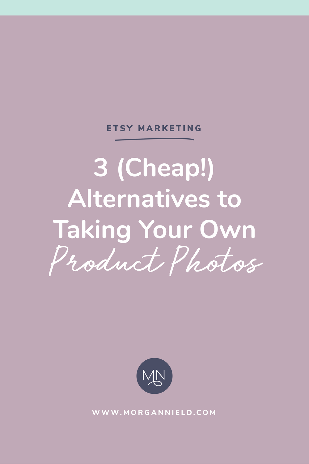 Believe it or not, you DON'T have to be an expert photographer (or have any photography skills whatsoever!) to get beautiful product photos for your shop. Today I'm sharing 3 alternatives to taking your own photos >>