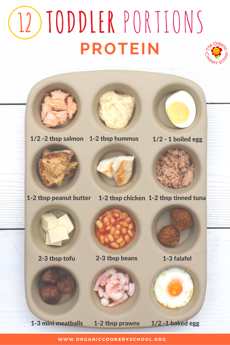 The Organic Cookery School Toddler Portion Guide Protein