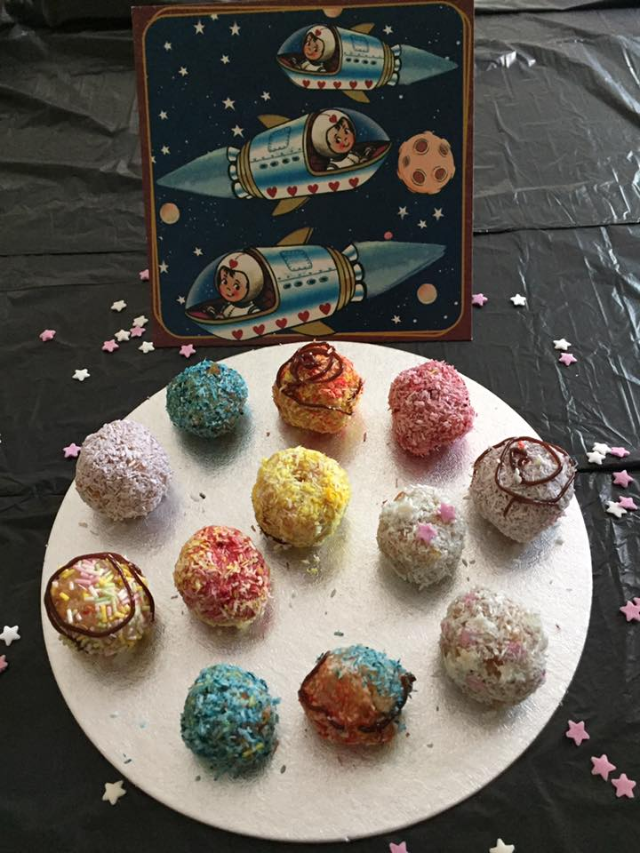 Find instructions how to make our Cake Truffle Planets in the  Storytime Chef  FB group