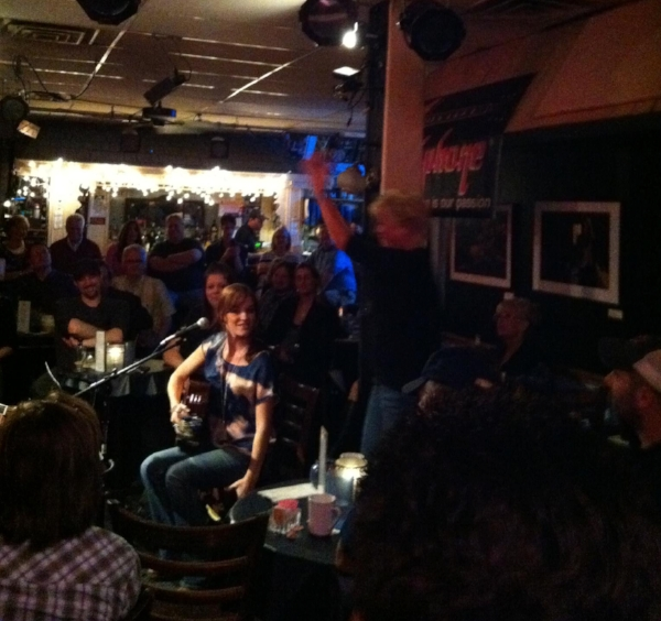 My first time performing at the Bluebird, back in 2012. I played one song on a round with Roxie Dean, Rivers Rutherford, Leslie Satcher and Tim James. This was also the night I met the President of NSAI.