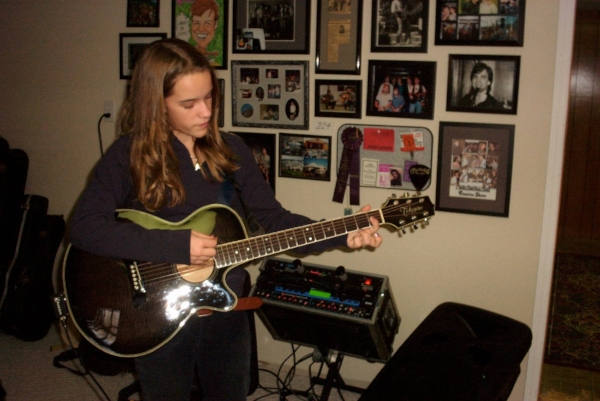 This is me at 13, struggling with a D Chord and a middle part. Because everyone has to start somewhere. You can do this.