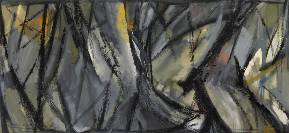 "Thicket , oil on canvas, 24""x 52"", 2013"
