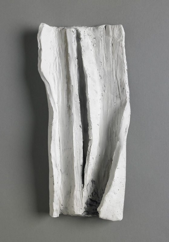 "Bark , painted clay, 10.5"" x 5"" x 1.5"", 2013"