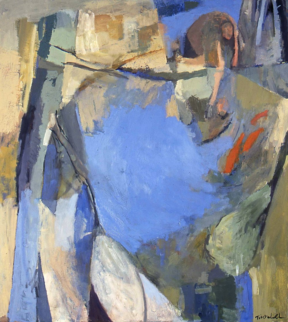 "Narcissus , oil on canvas, 48"" x 42"", 1999"