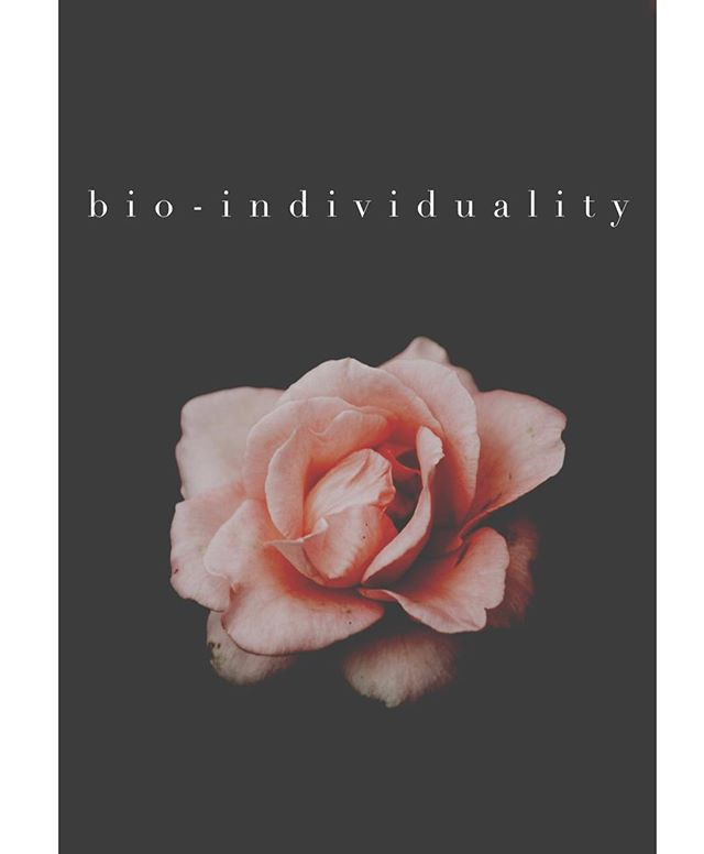 """Bio-individuality. A new term that I am using more and more in my practice and my work with families. Bio-individuality is the idea that no single diet, intervention, philosophy, lifestyle, etc. works and provides results for everyone. This is an important concept to understand for yourself AND your loved ones because of the strong messages/advice we receive on a daily basis. ⭐️ Interested in more? Therapy can provide a space to explore and name what helps you feel """"at home"""" in your body and what doesn't. (I can also provide referalls for doctors and practitioners in the LA area who specialize in holistic client care for you and your family.) #bodywisdom #therapy #bioindividuality #advocateforyourself"""