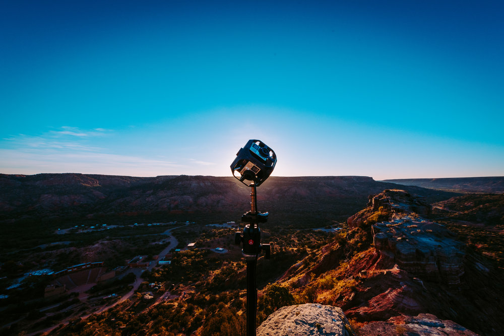 A 360 degree camera at the Palo Duro Canyon State Park in Texas.