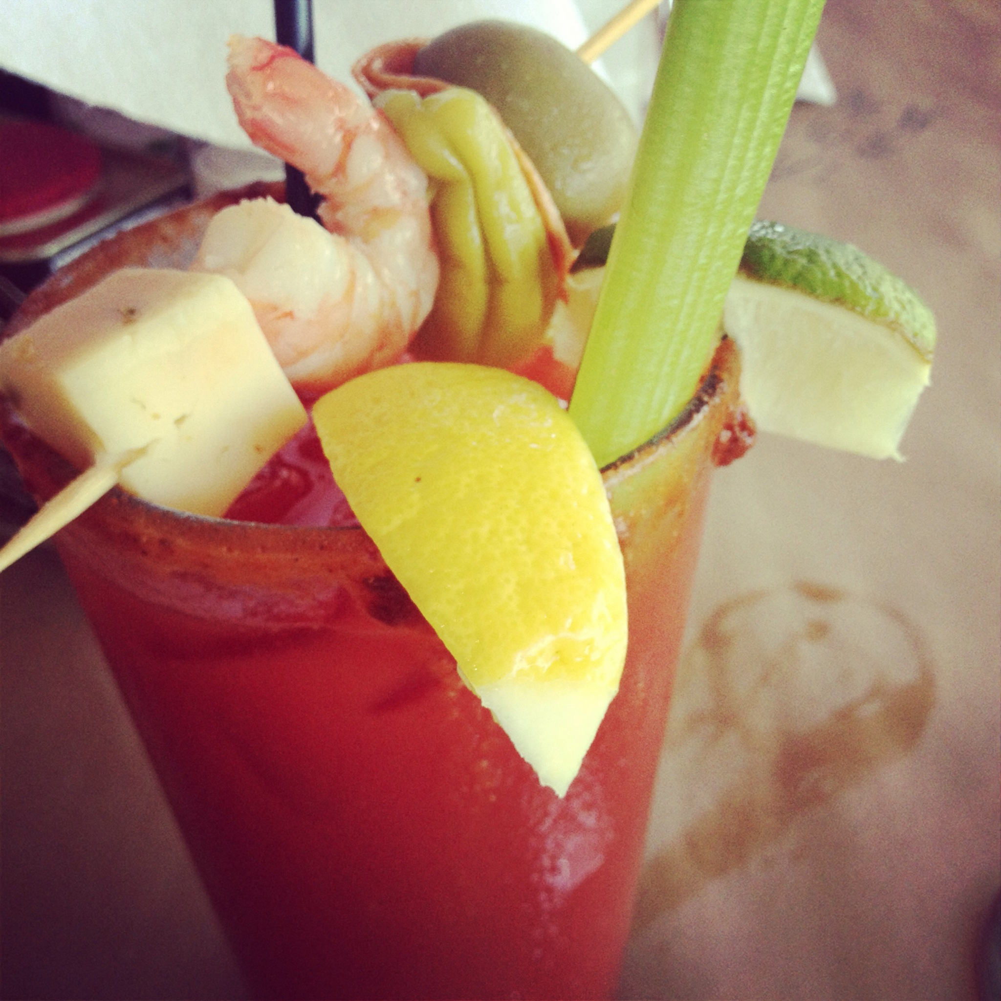 Nothing says refreshing after a long run like a bloody mary