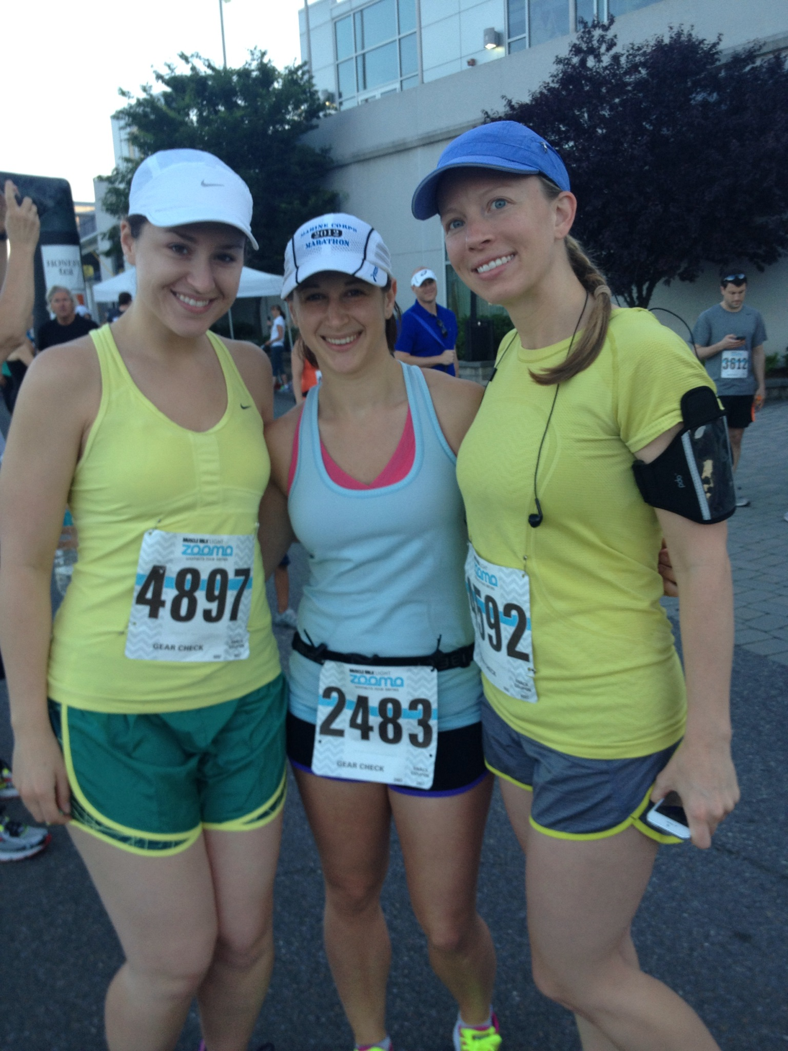 Kristin, Shannon and me at the start while I was still optimistic