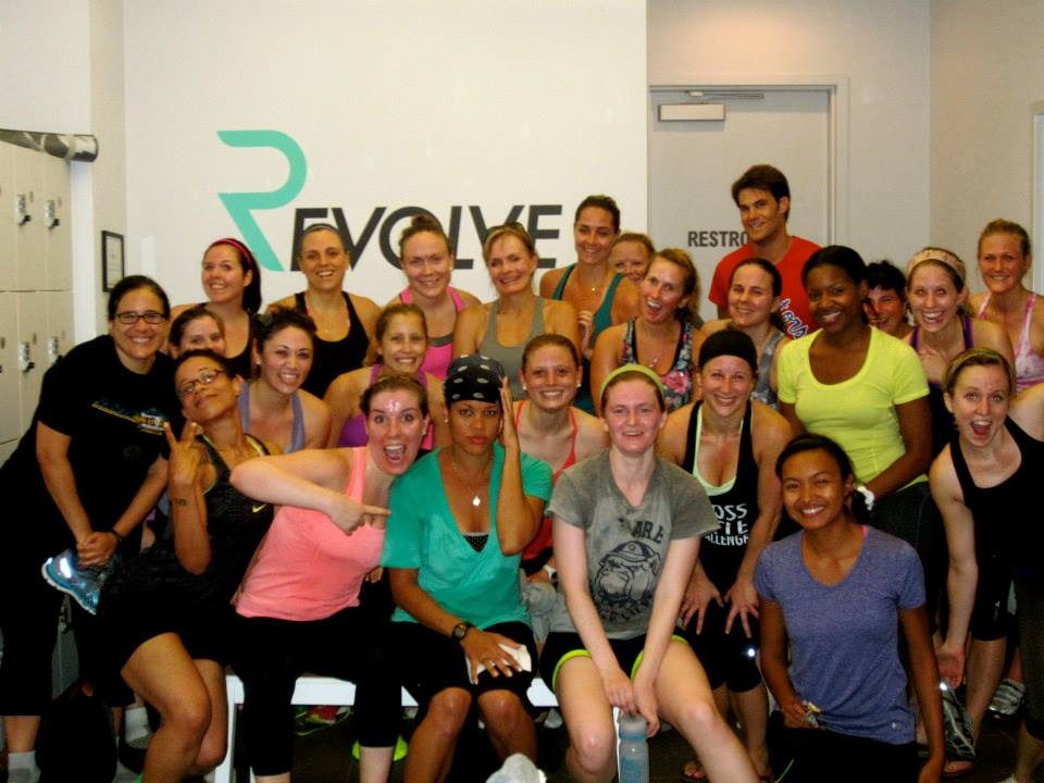 Sweaty faces and photo courtesy of Revolve