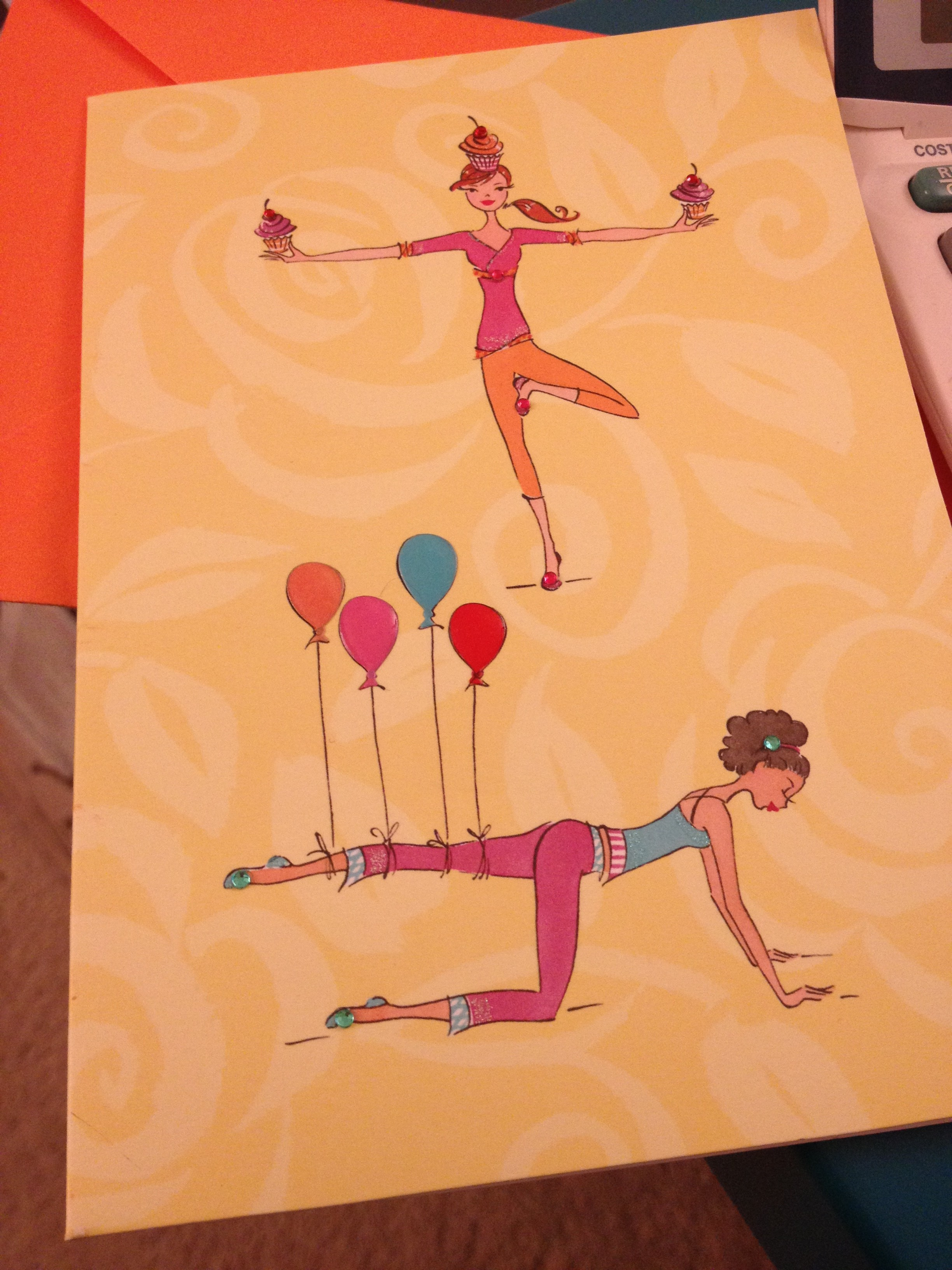 Evidence of my very yogi birthday. Even my card from the biffles was yoga themed.