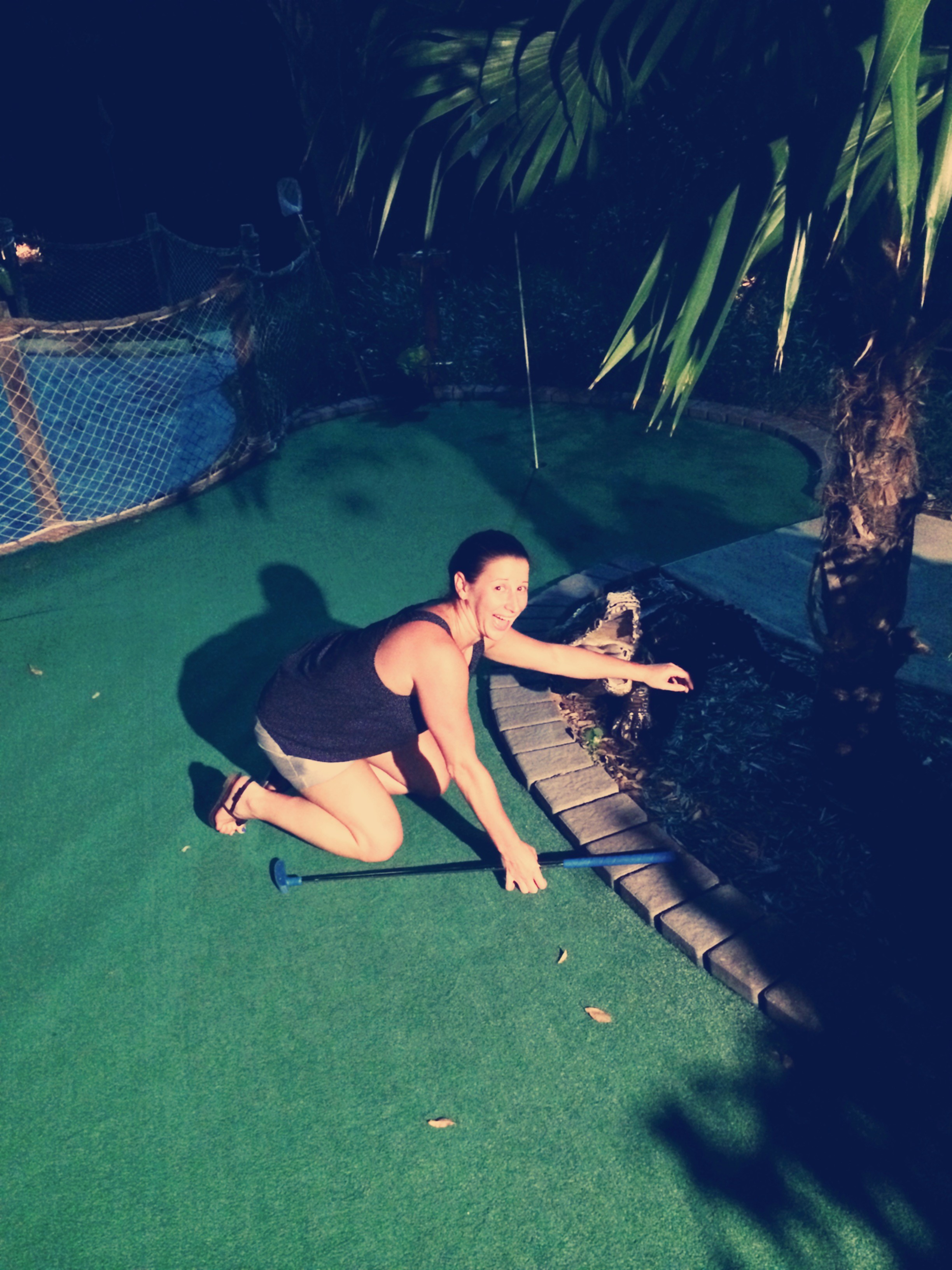 We played the Everglades course...and I may have lost my ball to an alligator