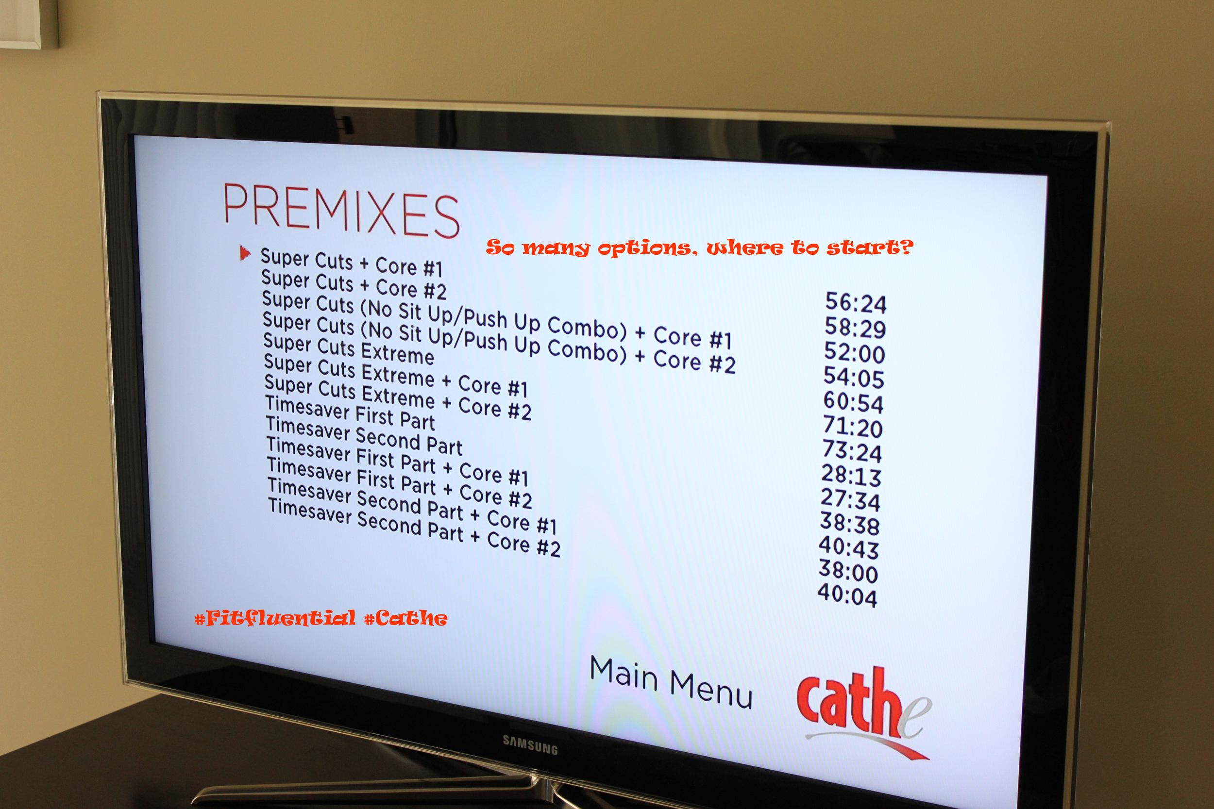 The Prefix menu
