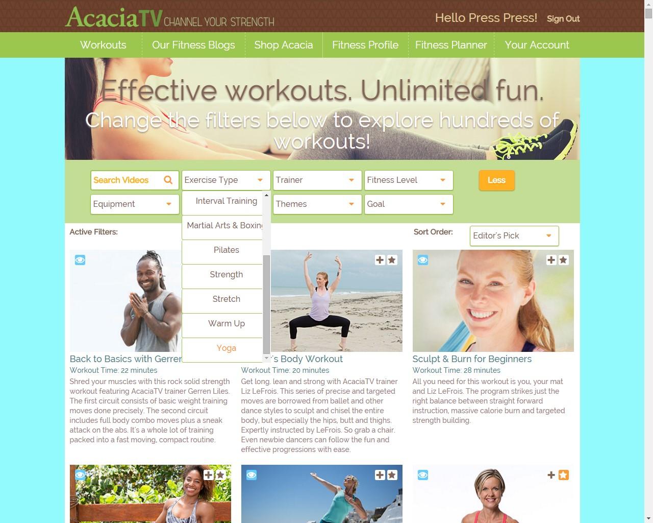 acaciatv homepage